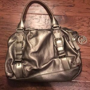 Michael Kors Gold Leather Handbag